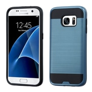Insten Hard Dual Layer Silicone Cover Case For Samsung Galaxy S7 - Blue/Black (2195610)