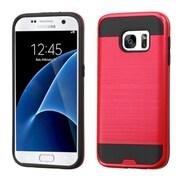 Insten Hard Hybrid Silicone Case For Samsung Galaxy S7 - Red/Black (2195612)