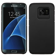 Insten Hard Dual Layer Rubber Coated Silicone Cover Case For Samsung Galaxy S7 Edge - Black (2200373)
