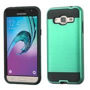 Insten Hard Hybrid Rubber Coated Silicone Cover Case For Samsung Galaxy J3 - Green/Black (2208049)