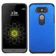 Insten Hard Hybrid Rubber Coated Silicone Case For LG G5 - Blue/Black (2229081)