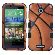 Insten Tuff Basketball Hard Hybrid Rugged Shockproof Rubber Silicone Cover Case For HTC Desire 510 - Brown/Black (2037134)