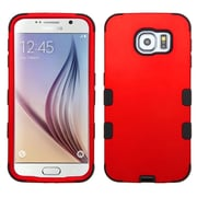 Insten Tuff Hard Dual Layer Rubber Silicone Cover Case For Samsung Galaxy S6 - Red/Black (2091620)