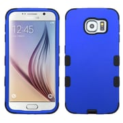 Insten Tuff Hard Dual Layer Rubber Coated Silicone Case For Samsung Galaxy S6 - Blue/Black (2091621)