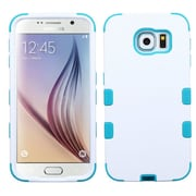Insten Tuff Hard Dual Layer Rubber Coated Silicone Cover Case For Samsung Galaxy S6 - White/Blue (2091733)