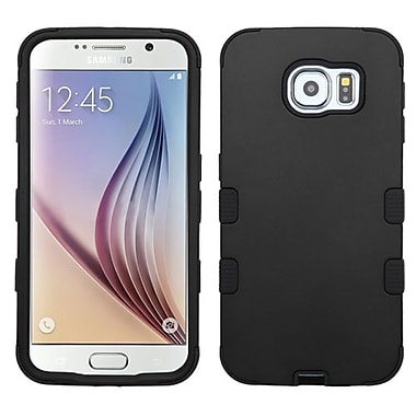 Insten Tuff Hard Hybrid Rugged Shockproof Rubber Silicone Case For Samsung Galaxy S6 - Black (2091736)