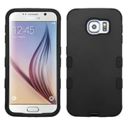 Insten Tuff Hard Hybrid Rugged Shockproof Rubber Silicone Case For Samsung Galaxy S6 - Black (2091736)