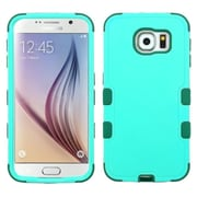 Insten Tuff Hard Dual Layer Rubber Silicone Cover Case For Samsung Galaxy S6 - Teal Green (2099573)