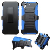 Insten Hard Dual Layer Plastic Silicone Case w/Holster For HTC Desire 626/626s - Black/Blue (2133950)