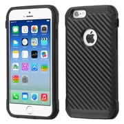 Insten Hard Dual Layer Silicone Cover Case For Apple iPhone 6 - Black (2136657)