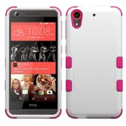 Insten Tuff Hard Dual Layer Rubberized Silicone Case For HTC Desire 626/626s - White/Hot Pink (2140969)