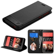 Insten Flip Leather Fabric Case w/stand/card holder For HTC Desire 626/626s - Black (2141056)