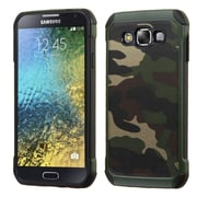 Insten Camouflage Hard Dual Layer Silicone Case For Samsung Galaxy E5 - Green/Black (2162284)
