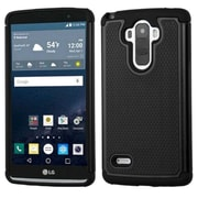 Insten Hard Dual Layer Rubberized Silicone Case For LG G Stylo - Black (2212083)