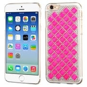 Insten Hard Cover Case w/Diamond For Apple iPhone 6 - White/Hot Pink (2002822)