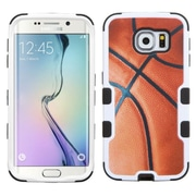 Insten Tuff Basketball Hard Hybrid Rubberized Silicone Cover Case For Samsung Galaxy S6 Edge - Brown/Black (2102108)