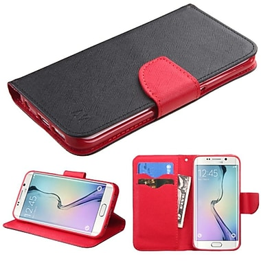 Insten Folio Leather Fabric Cover Case With Stand/Card Slot For Samsung Galaxy S6 Edge