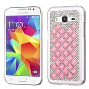 Insten Hard Diamond Cover Case For Samsung Galaxy Core Prime - Silver/Pink (2118969)