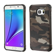 Insten Camouflage Hard Hybrid Rugged Shockproof Silicone Cover Case For Samsung Galaxy Note 5 - Gray/Black (2147976)