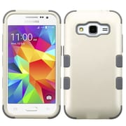 Insten Tuff Hard Hybrid Rugged Shockproof Rubberized Silicone Case For Samsung Galaxy Core Prime - White/Gray (2161997)
