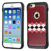 Insten Argyle Hard Hybrid Rugged Shockproof Rubber Silicone Cover Case For Apple iPhone 6/6s - Brown/Black (2162264)