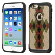 Insten Argyle Hard Hybrid Rugged Shockproof Silicone Case For Apple iPhone 6/6s - Green/Black (2162265)