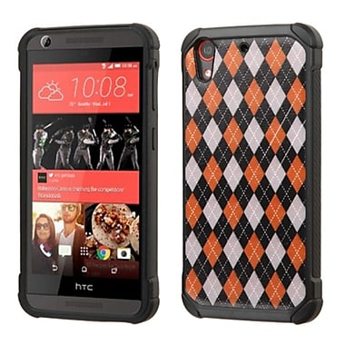 Insten Argyle Hard Dual Layer Silicone Case For HTC Desire 626/626s - Red/Black (2162271)