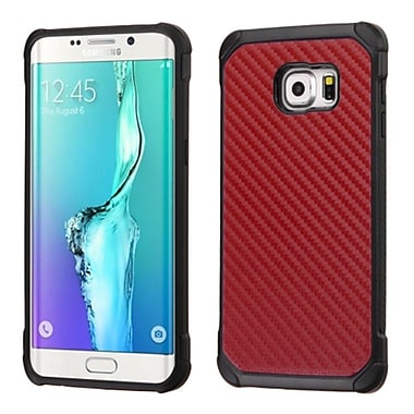 Insten Hard Dual Layer Rubber Silicone Case For Samsung Galaxy S6 Edge Plus - Red/Black (2162377)