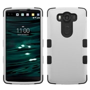 Insten Tuff Hard Dual Layer Silicone Case For LG V10 - Gray/Black (2177684)