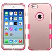 Insten Hybrid 3-Layer Protective Hard PC Outer/Silicone Inner Case for iPhone 6 6s - Rose Gold/Pink (2185087)