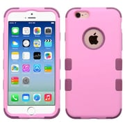 Insten Hybrid 3-Layer Protective Hard PC Outer/Silicone Inner Case for iPhone 6 6s - Pink (2186284)
