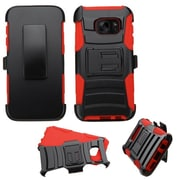 Insten Hard Hybrid Plastic Silicone Case w/Holster For Samsung Galaxy S7 - Black/Red (2195560)