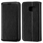 Insten Leather Wallet Stand Case with Card Slot For Samsung Galaxy S7 - Black (2195618)