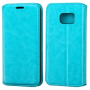 Insten Leather Wallet Stand Case with Card Slot For Samsung Galaxy S7 - Blue (2195621)