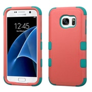 Insten Tuff Hard Hybrid Silicone Case For Samsung Galaxy S7 - Pink/Teal (2208031)