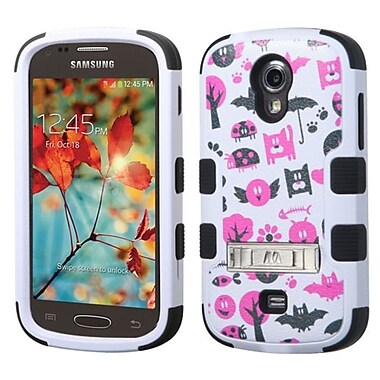 Insten Tuff Spooky Creatures Hard Hybrid Silicone Case with Stand For Samsung Galaxy Light - White/Hot Pink (2050470)