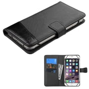 Insten Leather Flip Wallet Case Card Slot for iPhone 6 Plus / Alcatel One Touch Idol 3 / Samsung Galaxy Note 4 - Black (2123603)