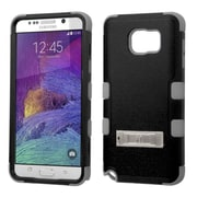 Insten Hybrid Hard Dual Layer Cover Case with stand For Samsung Galaxy Note 5 - Black/Gray (2136157)