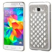 Insten Hard Diamante Cover Case For Samsung Galaxy Grand Prime - Silver (2177038)