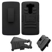 Insten Hard Hybrid Plastic Silicone Cover Case w/Holster For LG V10 - Black (2177281)