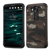 Insten Camouflage Hard Hybrid Rubber Coated Silicone Cover Case For LG V10 - Gray/Black (2177727)