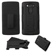 Insten Hard Hybrid Plastic Silicone Case w/Holster For LG V10 - Black (2181393)