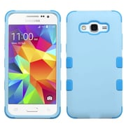 Insten Tuff Hard Hybrid Rubber Coated Silicone Case For Samsung Galaxy Grand Prime - Blue (2195436)