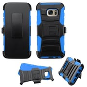 Insten Hard Dual Layer Plastic Silicone Case w/Holster For Samsung Galaxy S7 Edge - Black/Blue (2195564)