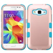 Insten Tuff Hard Dual Layer Rubber Silicone Cover Case For Samsung Galaxy Core Prime - Rose Gold/Teal (2205002)