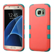 Insten Tuff Hard Dual Layer Rubberized Silicone Cover Case For Samsung Galaxy S7 Edge - Pink/Teal (2208028)