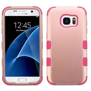 Insten Tuff Hard Hybrid Rubber Coated Silicone Case For Samsung Galaxy S7 - Rose Gold/Pink (2208111)