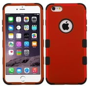 Insten Hybrid 3 Layer Hard PC Outer/Silicone Inner Case for iPhone 6s Plus / 6 Plus 5.5 inch, Red/Black (1955457) by