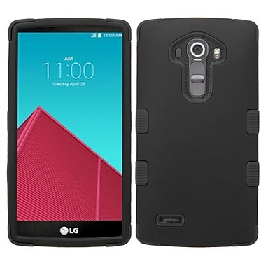 Insten Tuff Hard Hybrid Rugged Shockproof Rubber Silicone Case For LG G4 - Black (2121318)