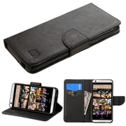 Insten Folio Leather Fabric Case w/stand/card holder For HTC Desire 626/626s - Black (2136771)